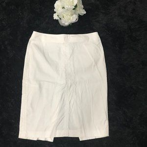 The Limited Stretch White Pencil Skirt Knee length